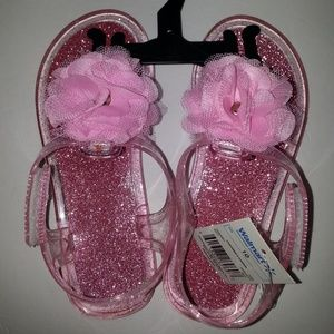 Other - Toddler Girls Pink Glitter Jelly Sandal Size 10